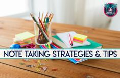 Read about several important note taking strategies to share with middle and high school students as well as how to establish expectations. Note Taking Strategies, Teaching Strategies, Teaching Resources, Teaching Ideas, High School Hacks, High School Science, School Ideas, High School Organization, Study Skills