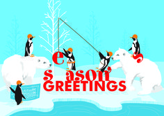 Penguin assembly animal and wildlife holiday cards pinterest find the perfect holiday card for your construction business at cards for causes which will also donate 20 percent of your order value to charity reheart Image collections