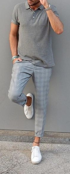Go Casual with This Checked Trouser Look