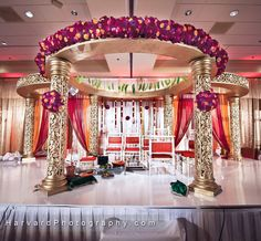Indian Wedding Mandap   (photo by: http://www.harvardphotography.com) (decor by: http://2createdesigns.com)