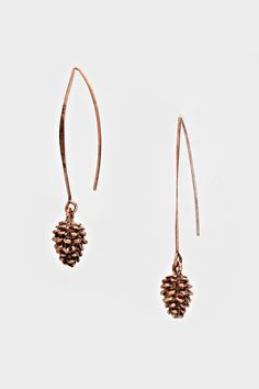Coppery Pinecone Earrings | Women's Clothes, Casual Dresses, Fashion Earrings & Accessories | Emma Stine Limited