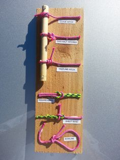 This is a knot display board for Webelos Scouts.