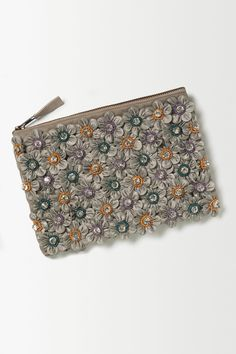 Daisy Shine Clutch from Anthropologie, so sweet
