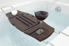 Amazon.com - Umbra Aquala Bamboo and Chrome Bathtub Caddy - Shower Caddies