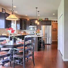 Reduced $5,000! The dining area in the Nottingham model at 983 Connell Street, #Mechanicsburg in the Orchard Glen neighborhood.