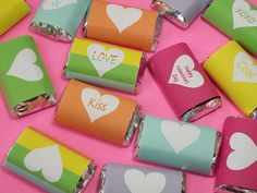 Valentines Day Printable Mini Candy Bar Wraps
