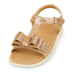 s Toddler Bow Boardwalk Sandal - Metallic - The Children's Place