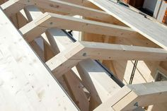 Shed Construction, Timber Structure, Roof Trusses, Wood Joints, Building A Shed, Shed Plans, Log Homes, Cabana, Architecture Details