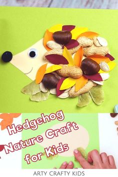 Looking for leaf hedgehog crafts for kids to make at home or preschool? With these leaf hedgehog crafts for kids, children can gather autumn leaves and other outdoor materials found in nature to make cute hedgehogs! Get a printable template   videos for these fall hedgehog crafts for kids to make   other fall woodland animal crafts for kids here! Fall Nature Crafts for Kids | Fall Leaf Crafts for Kids Autumn Leaves | Autumn Leaf Crafts for Kids #LeafCrafts #NatureCrafts Fall Crafts For Toddlers, Easy Fall Crafts, Thanksgiving Crafts For Kids, Easy Arts And Crafts, Halloween Crafts For Kids, Crafts For Kids To Make, Kids Crafts, Paper Animal Crafts, Sea Animal Crafts