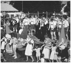 Dancing is just one of the many fun activities at the New Ulm, Minnesota German Heritagefest.