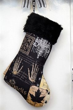 A Gothic Christmas Stocking Will Put a Little Macabre in Your Holidays #holiday #stockings trendhunter.com