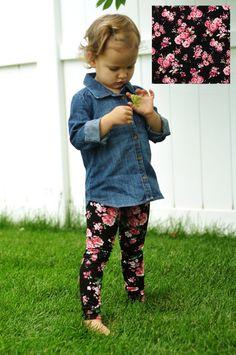 Baby Girl Leggings Toddler Leggings Girls por ChubbsLeggings