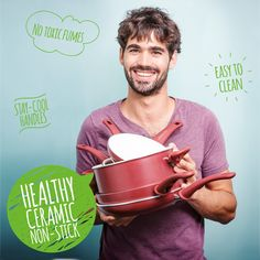 GreenLife Soft Grip Absolutely ToxinFree Healthy Ceramic Nonstick Dishwasher/Oven Safe Stay Cool Handle Cookware Set Burgundy * Check out this great product. (This is an affiliate link) Kitchen Cookware Sets, Ceramic Non Stick, Kitchen Supplies, Stay Cool, Moscow Mule Mugs, Dishwasher, Oven, Burgundy