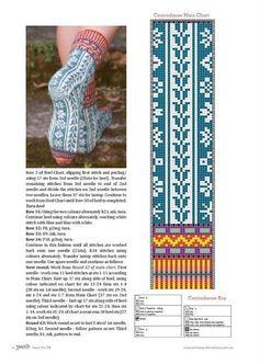 Yarn 2012 28 by Daliute - issuu Knitted Mittens Pattern, Crochet Socks, Knit Mittens, Knit Or Crochet, Mitten Gloves, Knitting Socks, Knitting Charts, Knitting Patterns, Crochet Patterns