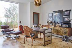 Modern Los Angeles home boasting retro-inspired interiors