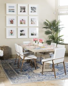 "Sentimentality can be one of the biggest road blocks to interior design success. Case in point: Hello Fashion blogger Christine Andrews's dining room. ""I had been putting off the redesign of this space"