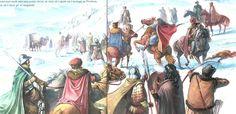 Capture of Vlad the Impaler by Radu Oltean. Vlad El Empalador, European Costumes, Vlad The Impaler, Late Middle Ages, Historical Art, 15th Century, Dracula, Warfare, Romania
