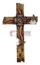 Fireman Decorative Wall Cross Axe Maltese Fire Department Emblem Firefighter 12""