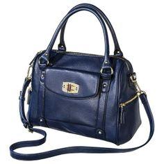 Cheap Expensive Looking Bags - Under 50: Merona® Zip Closure Satchel Handbag – Navy – $39.00 - Fashion So Awesome