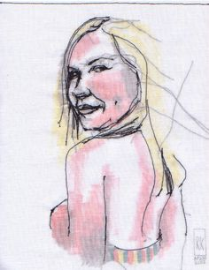 Stitched by Rick: Stitched Portraits: Kirsten Dunst, as Lux.