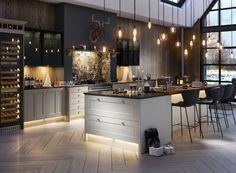 Country Kitchen in Nimbus and White | Wren Kitchens