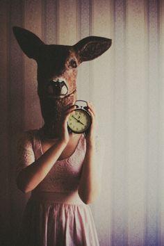 deer, clock with coffee in it and rented Andersen by laura makabresku, via Flickr