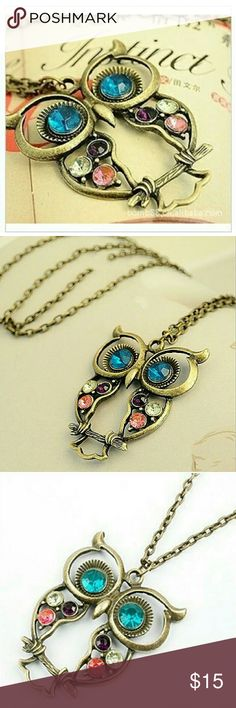 Vintage Owl Necklace Womens beautiful vintage owl necklace pendant.  Coming soon. Please hit like button for update when item arrives. Thanks. Jewelry Necklaces