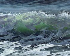 https://www.esthersample.com Sea, waves, oil, painting, love, realism #OilPaintingRealism
