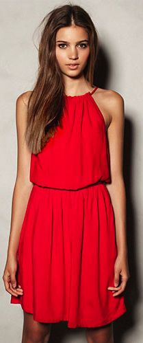 Ruffled Cut Out Red Off Shoulder Tunic Slip Dress