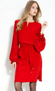 Dvf Red Dress Love this bright red DVF dress