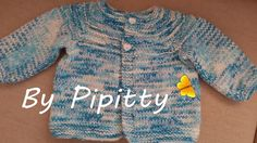 Este casaquinho com a pala redonda é bem gracioso e fácil de ser tricotado.        Trabalhei com dois fios juntos: Bebê Comfort da Cisne e K...