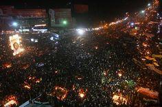 Shahbag Circle , Dhaka, Bangladesh Projanmo Chattar 2013-02-14