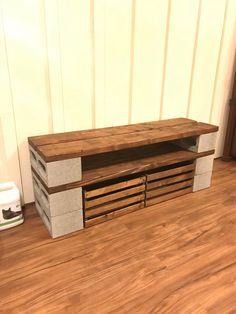 Diy Home Furniture, Shelf Furniture, Wood Furniture, Diy Home Decor, Room Decor, Cinder Block Shelves, Brick Shelves, Cinder Block Furniture, Kitchen Cabinets On A Budget