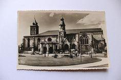 French antique postcard unused photograph Bordeaux church