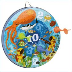 Wurfscheibe Dartspiel magnetisch Ozean Vilac - LolaKids