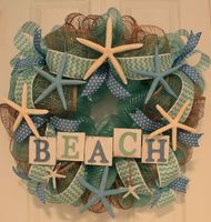 DIY Starfish Beach Cottage Wreath
