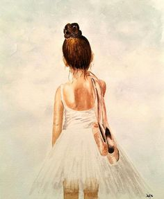 Beautiful watercolour ballerina in the gallery today by member ytisalca