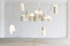Light sculptures by Doug Johnston. photo by Lauren Coleman