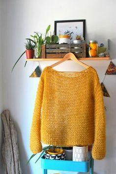 60 Ideas Knitting Patterns Sweaters Oversized Garter Stitch For 2019 Pull Crochet, Knit Crochet, Oversize Pullover, Oversized Tops, Rico Design, Crochet Woman, How To Start Knitting, Garter Stitch, Knitting Patterns Free