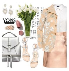 """""""Metal mania with yoins"""" by pensivepeacock ❤ liked on Polyvore featuring Rebecca Minkoff, NDI, Rochas, NARS Cosmetics and Rina Limor"""
