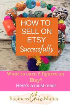 How to sell on Etsy Successfullly and quit your day job Take Money, Way To Make Money, Make Money From Home, Business Chic, Craft Business, Business Ideas, Online Business, Starting An Etsy Business, What To Sell