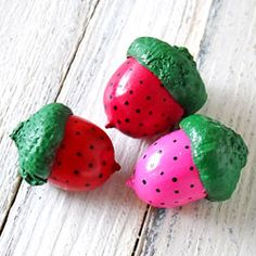 A cute strawberry themed craft you and your kids will love.