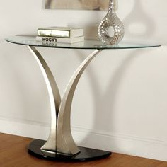 Furniture of America Velma Modern Satin Plated Sofa Table - Overstock™ Shopping - Great Deals on Furniture of America Coffee, Sofa & End Tables Modern Sofa Table, Sofa End Tables, Coffee And End Tables, Console Tables, Entryway Furniture, Table Furniture, Living Room Furniture, Kitchen Furniture, Black Furniture