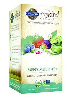 Garden of Life Organic Multivitamin Supplement for Men - mykind Men's 40+ Whole Food Vitamin, Vegan, 120 Tablets //Price: $45.59 & FREE Shipping //     #hashtag4