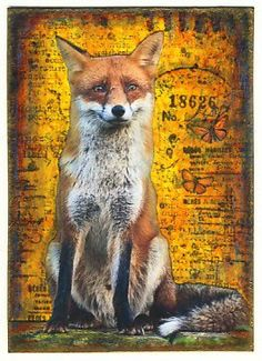 Red Fox ATC by Gaby - Colorful Adventures