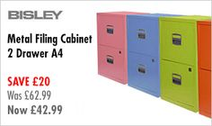 2 Drawer Bisley Filing Cabinets