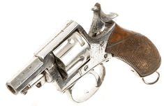 Rare Antique Obsolete Calibre Plated Tranter Type Revolver - Allied Deactivated Guns - Deactivated Guns