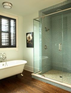 If you like the combination of the glass shower and traditional bathtub, let Craftsmen remodel your bathroom today!
