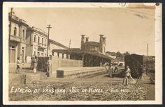 Minas Gerais - Varginha - Temática Ferrovias - Estação de Trem - Foto Postal antiga original, Foto A