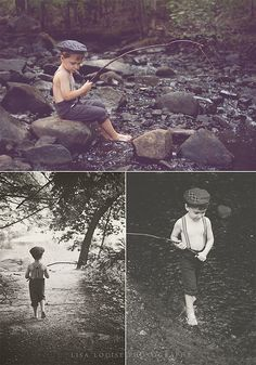 4-year-old boy stylized fishing photo shoot, Lisa Louise Photography